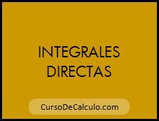 Integrales Indefinidas Directas